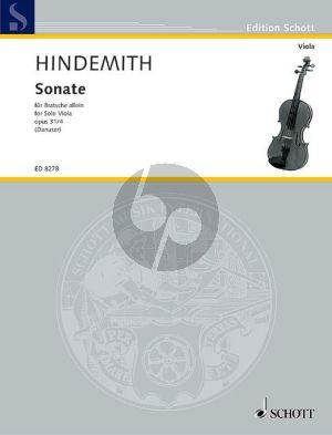 Hindemith Sonate Op.31 No.4 Viola solo (Hermann Danuser)