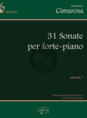 Cimarosa 31 Sonatas Vol. 1 Piano (edited by Carlo Bruno and Vincenzo Vitale)