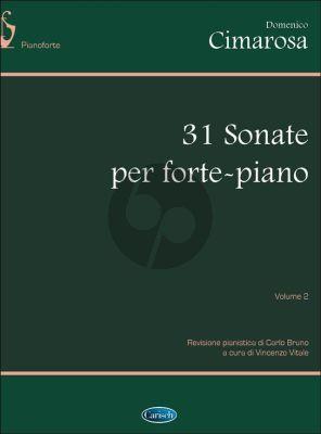 Cimarosa 31 Sonatas Vol. 2 Piano (edited by Carlo Bruno and Vincenzo Vitale)
