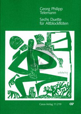 Telemann 6 Duette 2 Altblockflöten (Hofmann/Braun)