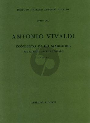 Vivaldi Concerto C major F.VIII n.21 bassoon-strings-cembalo