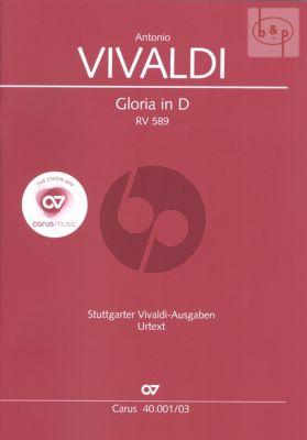 Gloria RV 589 D-dur Soli [SSA]-SATB-Orchestra Vocal Score
