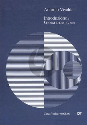 Vivaldi Introduzione e Gloria RV588 SSAT soli-Choir-Orch.  Score