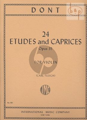 24 Etudes and Caprices Op.35 Violin