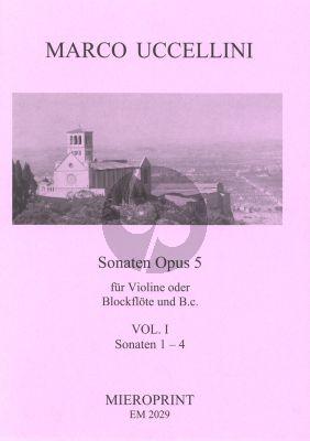 Uccelini Sonaten Op.5 Vol.1 No.1-4 Violine[Blockflote] und Bc (Generalbassaussetzung Winfried Michel)