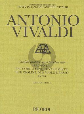 Credidi Propter Quod Locutus Sum RV 605 (Salmo 115) (5 Mixed Voices- 2 Violins- 2 Viole-Basso)