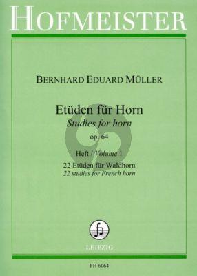 Muller Etuden Op. 64 Vol. 1 22 Etuden Waldhorn