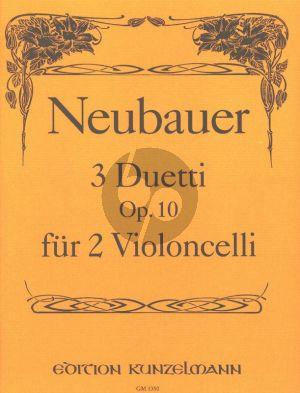 Neubauer 3 Duos Op. 10 2 Violoncellos (Stimmen) (Thomas-Mifune)