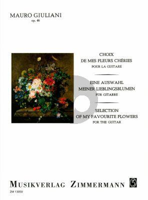 Giuliani Choix de mes Fleurs Cheries op.46 Gitarre (Edited by Jose Azpiazu)