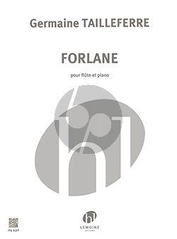 Tailleferre Forlane Flute-Piano
