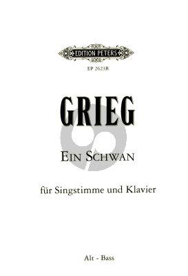 Ein Schwan (A Swan / Le Cygne) Op.25 No.2 (1876) Tiefe Stimme (Es dur) und Klavier