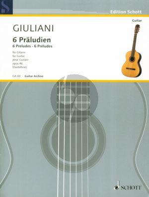 6 Praludien Op.46 Gitarre