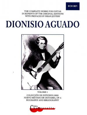 Aguado Complete Works Vol.1 Colleccion de Estudios - Nuevo Método de Guitarra Opus 6guitar (Brian Jeffery)