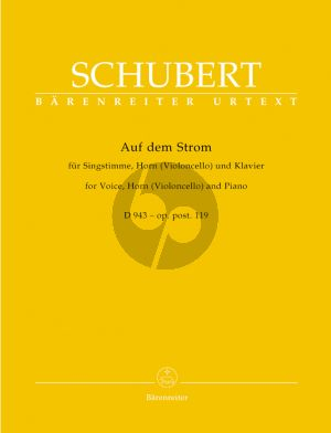 Schubert Auf dem Strom Op. Posth.119 D. 943 Hohe Stimme-Horn [E]-[Vc.]-Klavier (Walter Durr)