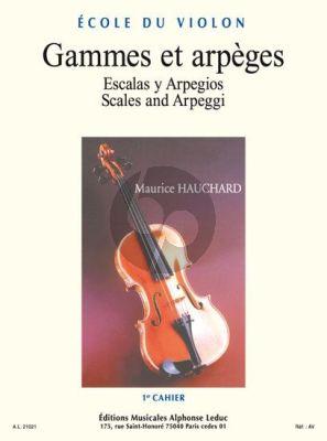 Hauchard Gammes et Arpeges Vol. 1 Violon