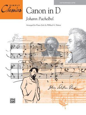Pachelbel Canon in D for Piano Solo (Simply Classics) (Intermediate) (transcr. by Willard A Palmer)