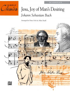 Bach Jesu Joy Man's Desiring Intermediate Piano Solo