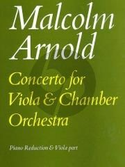 Arnold Concerto Op.108 Viola-Chamber Orchestra (piano red)