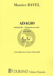 Ravel Adagio assai (from Concerto in G-major) piano solo