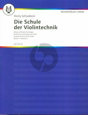 Schradieck Schule der Violintechnik Vol.3 (School of Violin Technique)