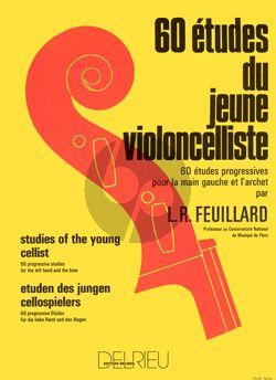 Feuillard 60 Etudes du Jeune Violoncelliste (Studies left hand and bow)