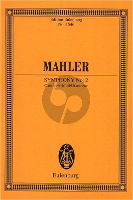 "Mahler Symphony No.2 c-minor ""Resurrection"" Study Score"