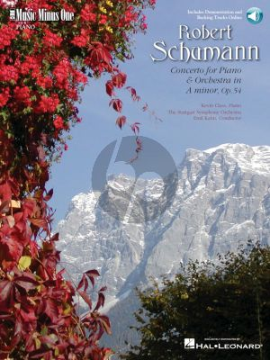 Schumann Piano Concerto A-Minor Op.54 (Music Minus One) Book with Audio Online (Pianist Kevin Class)