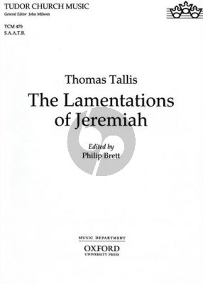 Tallis Lamentations of Jeremiah SAATB (edited by Philip Brett)