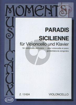Sicilienne Violoncello and Piano