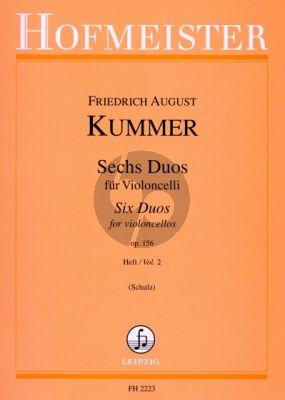 Kummer 6 Duos Op.156 Vol.2 2 Violoncellos (Schulz)