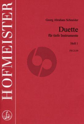 Schneider Duette Vol.1 Tiefe Instrumente (Spielpart.) (Pischkitl-Kraehnke)