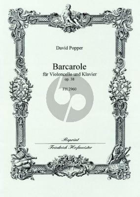 Popper Barcarolle Op.38 Violoncello-Klavier