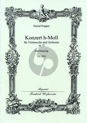 Popper Konzert H-moll Op.72 Violoncello-Orchester Klavierauszug