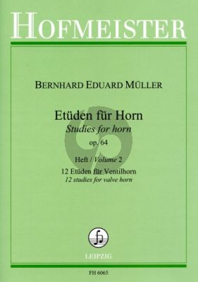 Muller Etuden Op .64 Vol. 2 12 Etuden Ventilhorn