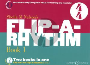 Nelson Flip-a-Rhythm Book 1 - 2 (The Ultimate Rhythm Game - Ideal Training for any Musician!) (Book with Audio online)