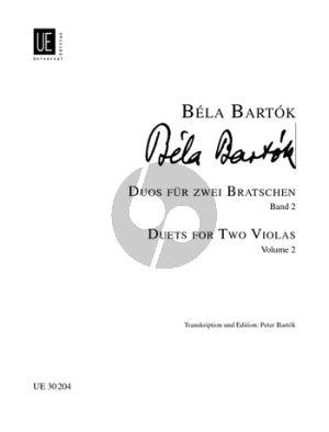 Bartok Duos Vol.2 2 Violas (edited by P. Bartok/Neubauer)