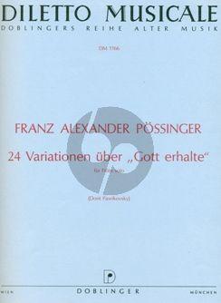 """24 Variationen über """"Gott erhalte"""" Flöte"""