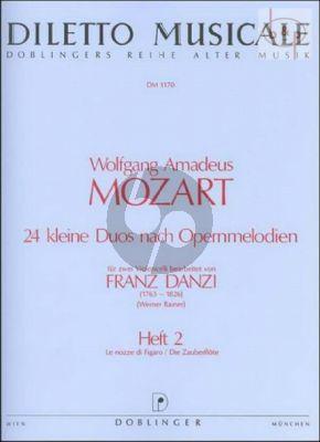Mozart 24 Kleine Duos Vol.2 (Instr. Franz Danzi) (2 Violoncellos) (edited by Werner Rainer)