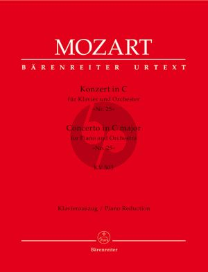 Mozart Concerto for Piano and Orchestra No.25 C major KV 503 Edition for 2 Pianos (Edited by Hermann Beck) (Barenreiter-Urtext)