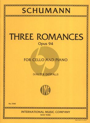 Schumann 3 Romances Op.94 Cello and Piano (Valter Despalj)