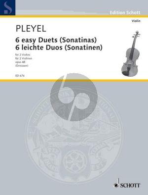 Pleyel 6 Leichte Duette (Sonatinen) Op.48 2 Violinen (Dessauer) (Grade 3-4)