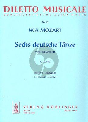 6 Deutsche Tanze KV 509