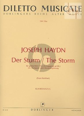 Der Sturm / The Storm Hob.XXIVa:8 (SATB[or Solo Quartet]-Orch.) (Vocal Score)
