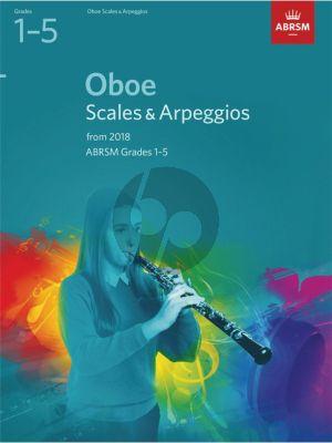 Oboe Scales & Arpeggios, ABRSM Grades 1–5