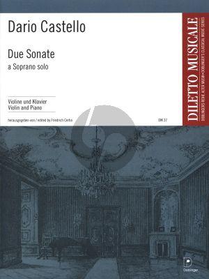 Castello Due Sonate a Soprano Solo Violin und Bc (edited by Friedrich Cerha)