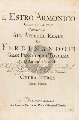 Vivaldi Concerto I d minor RV 549 (Op.3 No.1) 4 Violins-Violoncello-Strings-Bc (Set of Parts) (edited by Michael Talbot)