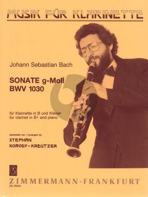 J.S. Bach Sonate g-moll BWV 1030 Clarinet Bb-Piano (Korody-Kreutzer)