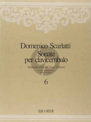 Scarlatti Sonate per Clavicembalo Vol.6 L. 274 - L. 333 (critical edition by Fadini)