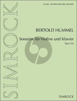 Hummel Sonatine Op. 35a Violine und Klavier (1969)