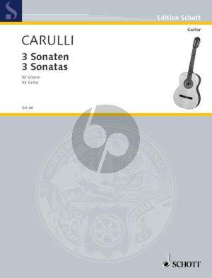 Carulli 3 Sonaten Gitarre (Hans Ritter)